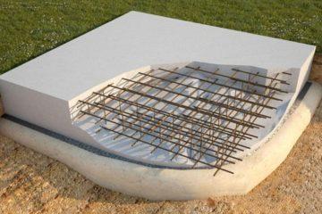 Железобетонный фундамент плита