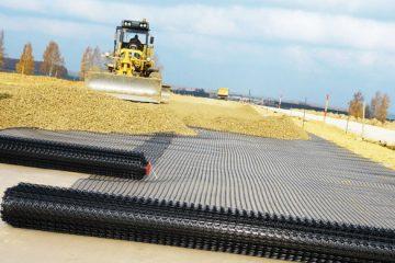 Строительство дорог с геосеткой