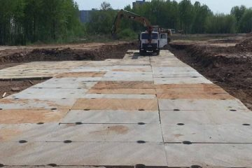 Строительство дорог плитами