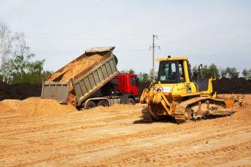 Строительство основания дороги