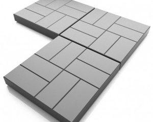 Укладка тротуарной полимерпесчаной плитки