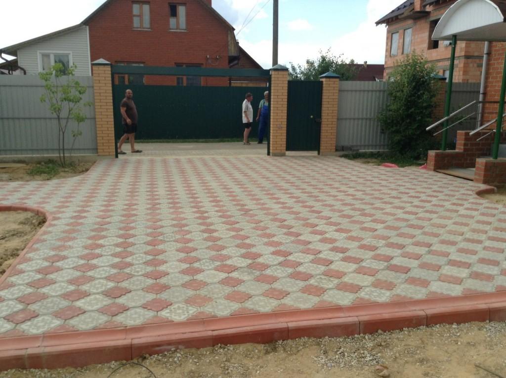 Тротуарная плитка клевер