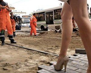 Укладка тротуарной плитки для пешеходов