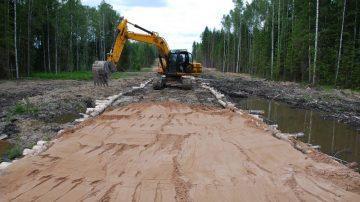 Строительство дорог на болотах