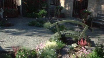 Устройство территории садов