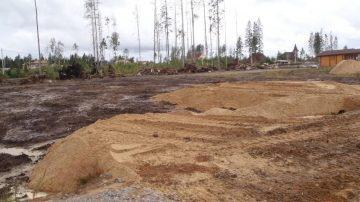 Отсыпка площадки песком