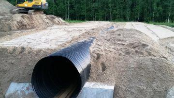 Строительство водопропускных труб