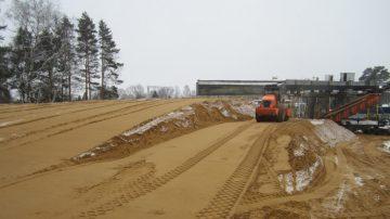 Строительство песчаной дороги
