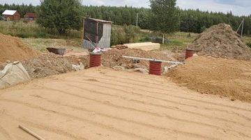 Устройство подушки песчаной