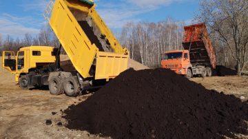 Завоз и планировка растительного грунта