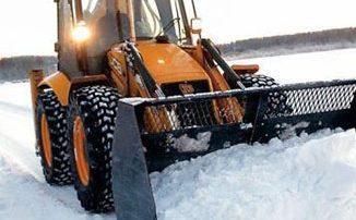 Уборка снега погрузчиком